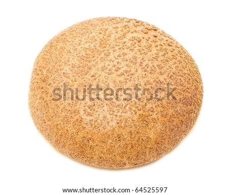 Round bread on white background - stock photo