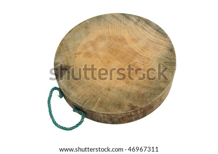 Round Chopping Board Isolation