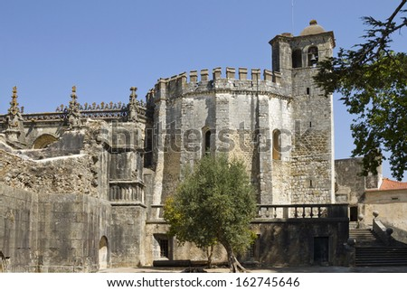 Round Church of the Convent of Christ in Tomar  - stock photo