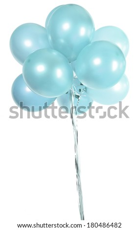 Round colorful balloons - stock photo