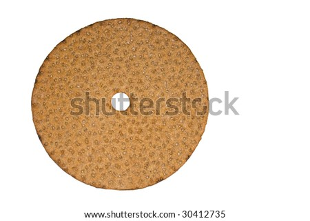 round crispbread isolated on white