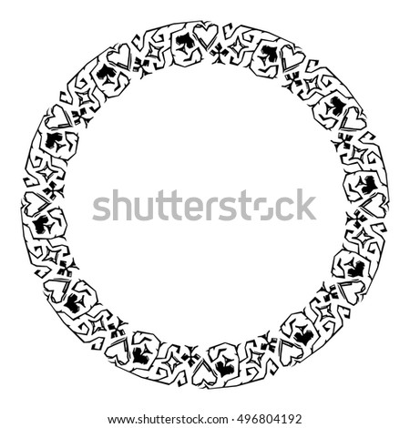 Round Decorative Frame Card Suits Vector Stock Vector 453315331 ...