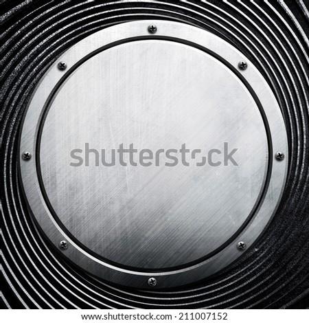 round metal background  - stock photo