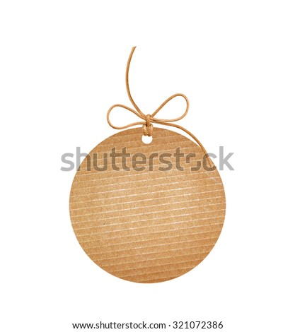 round paper label isolated on white background - stock photo