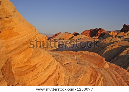 Round rock, Valley of Fire - stock photo