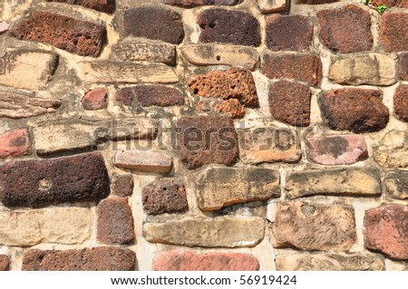 round rock wall - stock photo