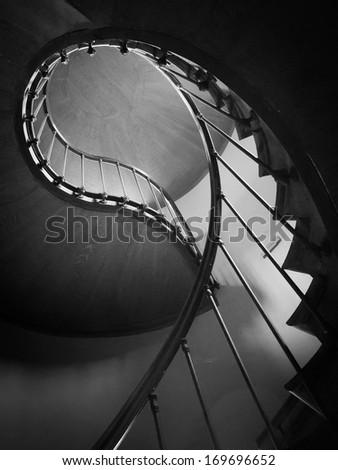 Round stairs - stock photo
