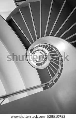 Round stairs going up