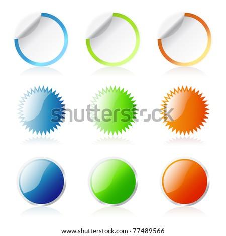 Round Stickers - stock photo