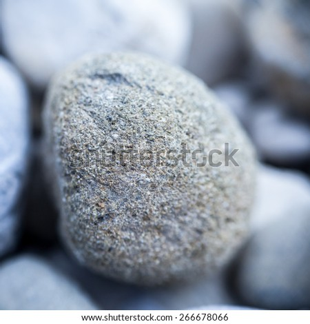 Round stone background - stock photo