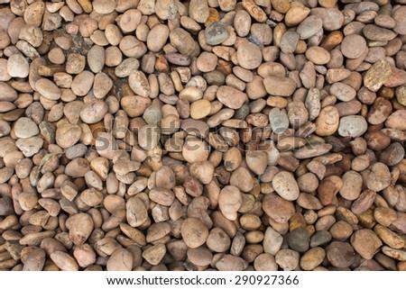 Round stone background texture - stock photo