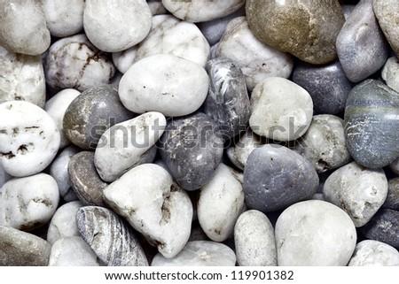 Round Stones Background - stock photo