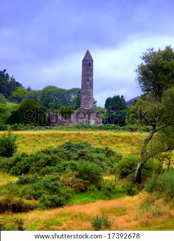 round tower at Glendalough, Co.Wicklow, Ireland