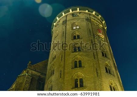 Round Tower located at Copenhagen, Denmark - stock photo
