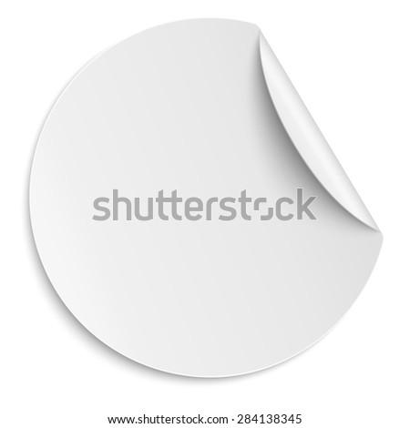 Round white paper sticker isolated light stock illustration 284138345 shutterstock