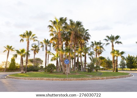 Roundabout Marina Dor (Oropesa del Mar, Castellon - Spain). - stock photo