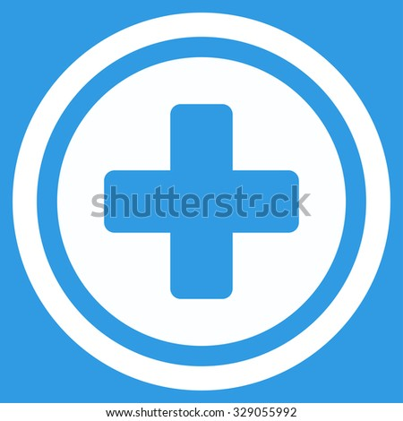 Rounded Cross Glyph Icon Style Flat Stock Illustration 329055992