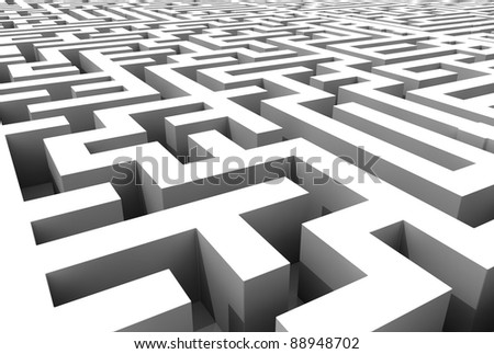 rounded labyrinth - stock photo
