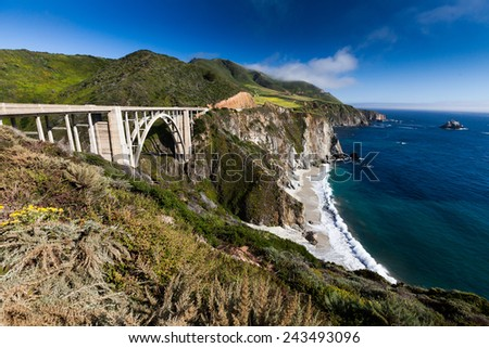 Route 1 Californian Coast - stock photo