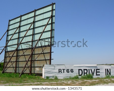 Route 66 Drive-In Theater - stock photo