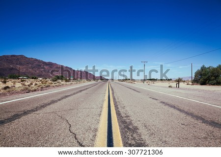 Route 66 in California - stock photo