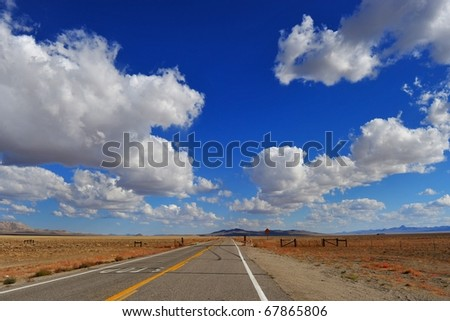 Route in Nevada - stock photo