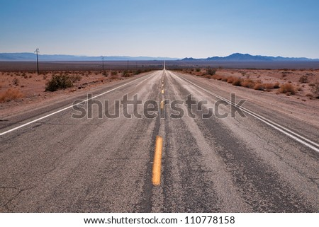 Route 66 to Joshua Tree National Park, California, USA