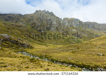 Routeburn Track in South Island, New Zealand