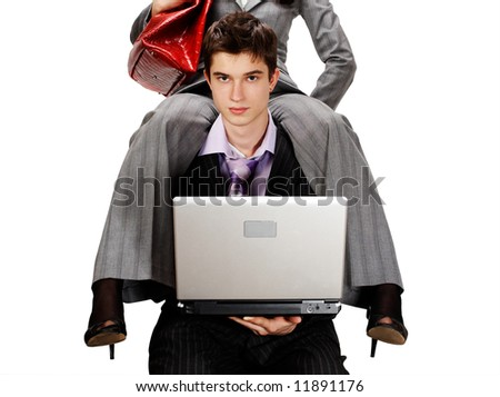 routine work burden. with ease. concept - stock photo