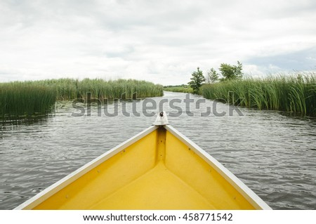 row boat on lake
