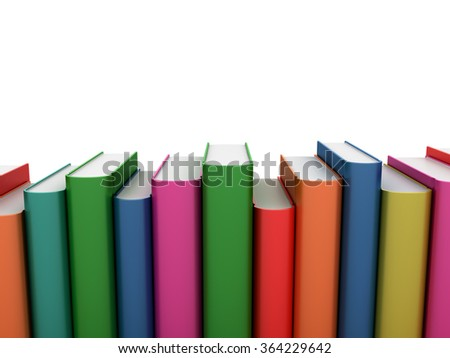 Row of Books - Learning Concept - High Quality 3D Rendering
