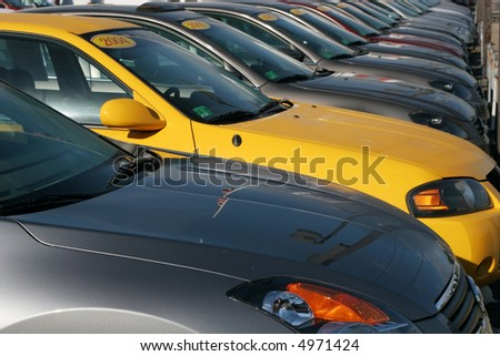 row of cars - stock photo