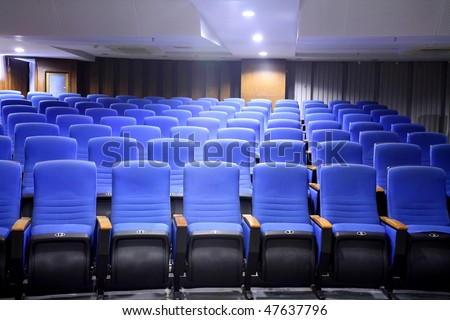 row of chair in theater interior - stock photo