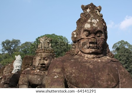 Row of Giants at the Gate of Angor Thom