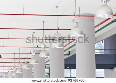 Row of lamp - stock photo