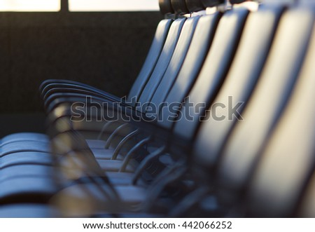 row of leather chairs