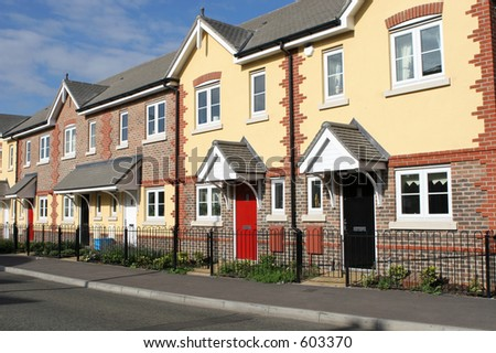 Row of neat terraced houses