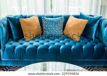 orange leather pillows sofa stock photos, royalty-free images