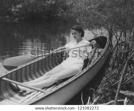 Row your boat gently down the stream - stock photo