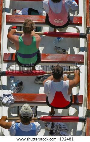 Rowers - stock photo
