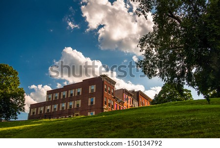 Rowhouses on Federal Hill, Baltimore, Maryland. - stock photo