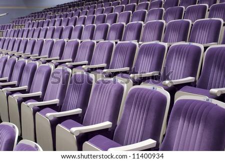 rows of empty seats texture - stock photo