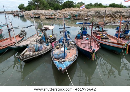 rows of fishing boats