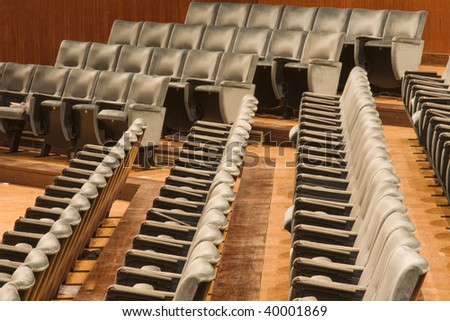 Rows of seats at an modern auditorium