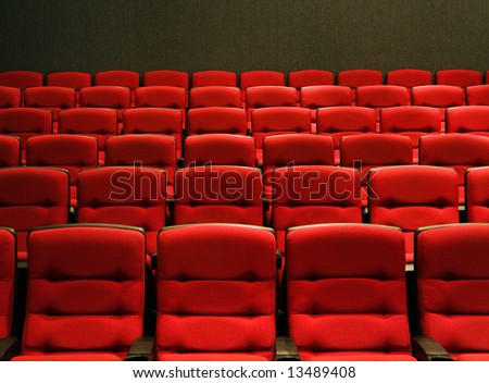 Rows of theatre seats - stock photo