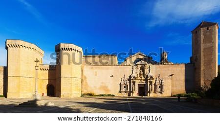Royal Abbey of Santa Maria de Poblet. Catalonia - stock photo