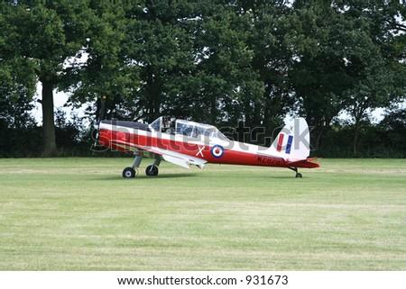 Royal Air Force Chipmunk training aircraft - stock photo