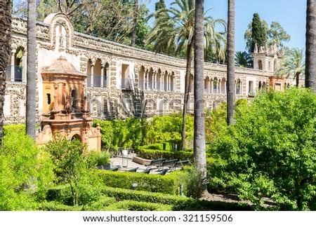 Royal Alcazars of Seville, Spain - stock photo