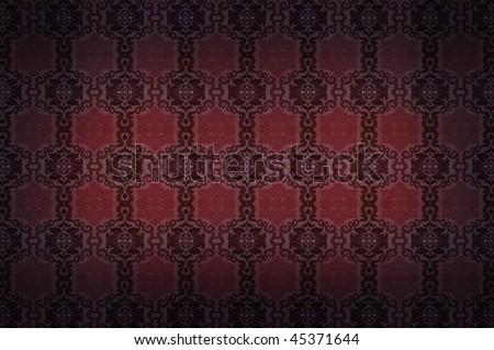 royal background. seamless damask  pattern. retro texture - stock photo