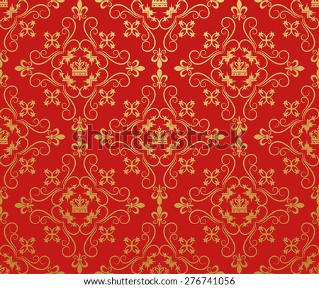 Royal Background Wallpaper For Your Design. Pattern For Placard,  Book Cover Design, Poster, Invitation, Wallpaper For Wall. Color Image. Style Retro  - stock photo
